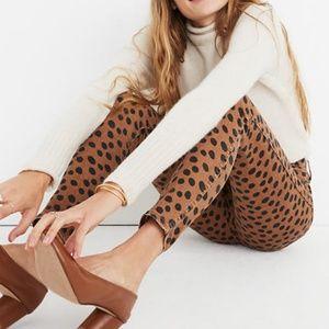 "Madewell | 10"" High Riser Skinny Jeans Leopard Dot"